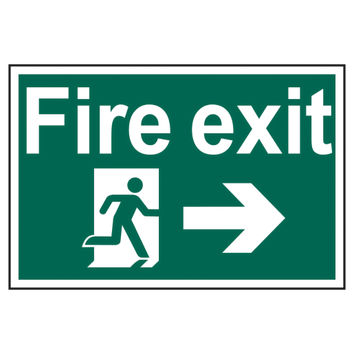 Spectrum 'Fire Exit Man Running to Right' Sign 400 x 600mm