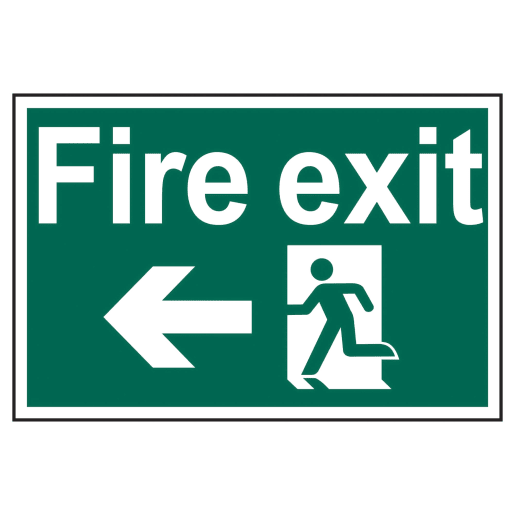 Spectrum 'Fire Exit Man Running to Left' Sign 400 x 600mm