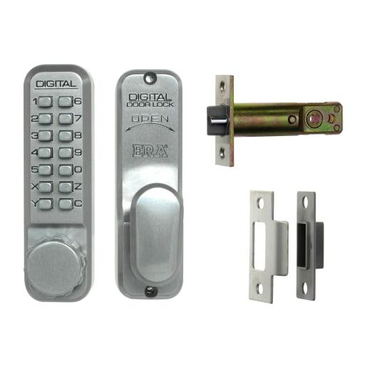ERA Digital Door Lock 142 x 42mm Satin Chrome