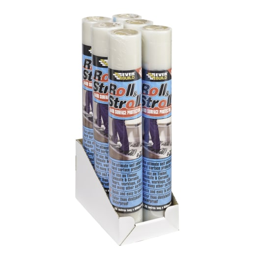 Everbuild Roll and Stroll Hard Surface Floor Protector 75m x 600mm
