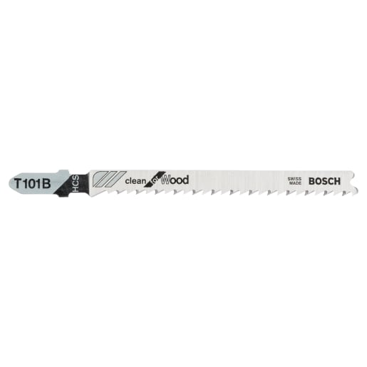 Bosch Jigsaw Blade Clean for Wood 100mm Steel Pack of 5