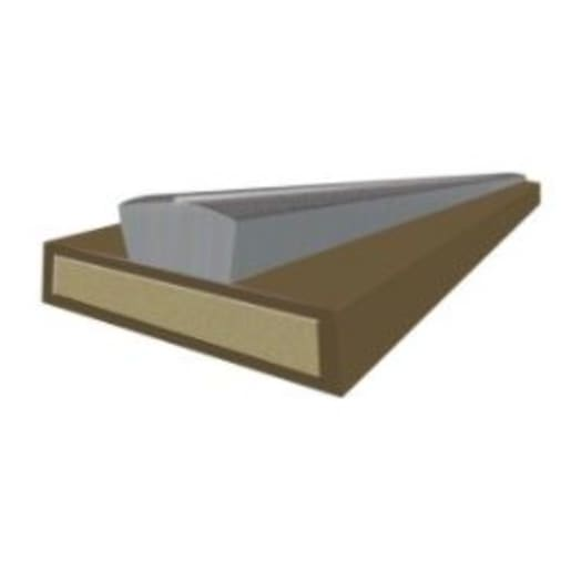 Astroflame Intumescent Fire and Smoke Strip 2100 x 20 x 4mm Brown