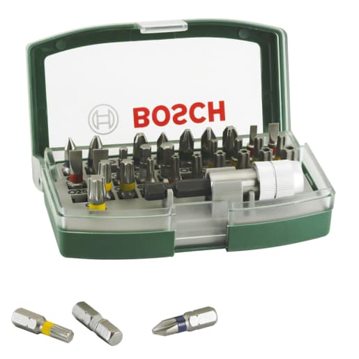 Bosch Screwdriver Bit Set 32-Piece with Colour Coding 130mm