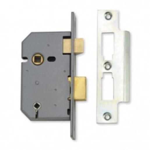 Union 2226 3-Lever Bathroom Mortice Lock 77mm Satin Chrome