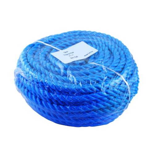 A Perry No.834 Polypropylene Rope 30m x 10mm Blue