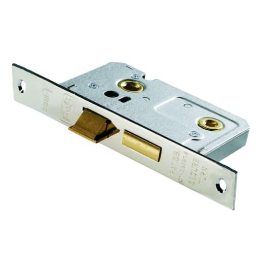 Eurospec Easi-T Bathroom Lock 76mm Width Contract Nickel Plated