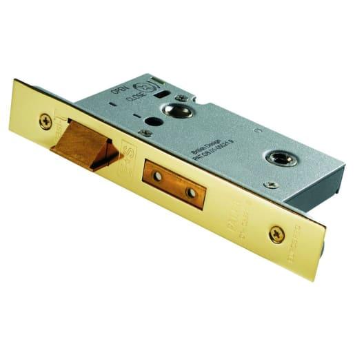 Eurospec Easi-T Architectural Bathroom Lock 64mm L Stainless Brass