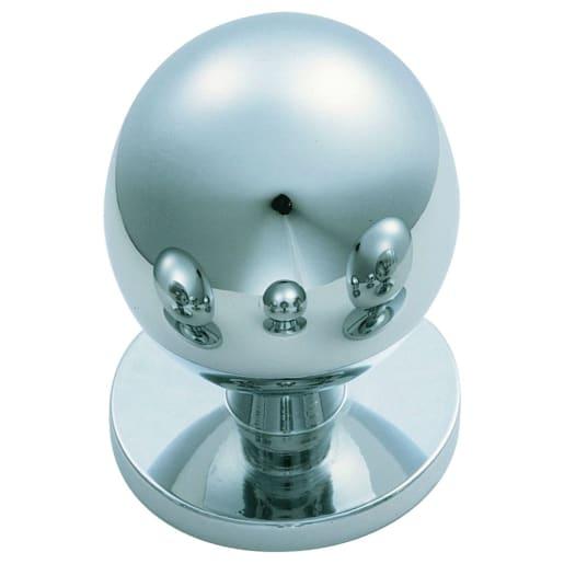 Carlisle Brass Fingertip Ball Knob 30 x 30mm Dia Polished Chrome