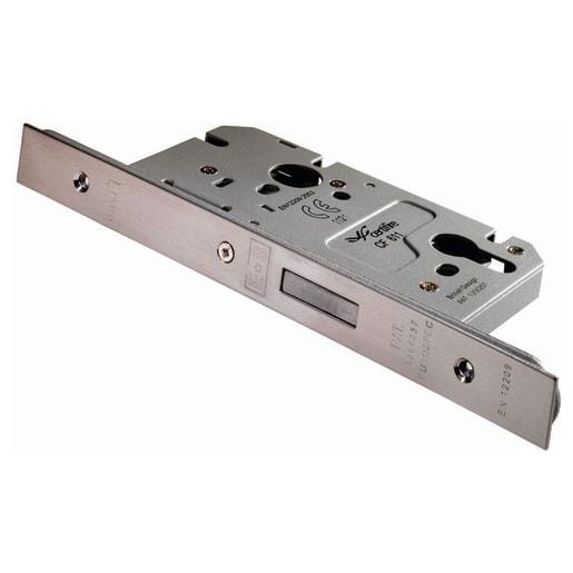 Eurospec Easi-T Din Profile Deadlock 60mm L Satin Stainless Steel