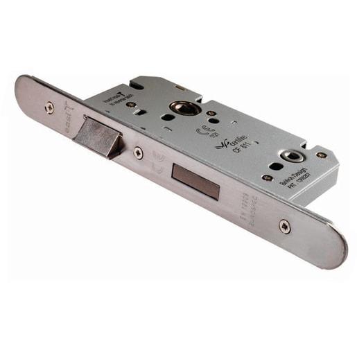 Eurospec Easi-T Din Radius Bathroom Lock 60mm L Satin Stainless Steel