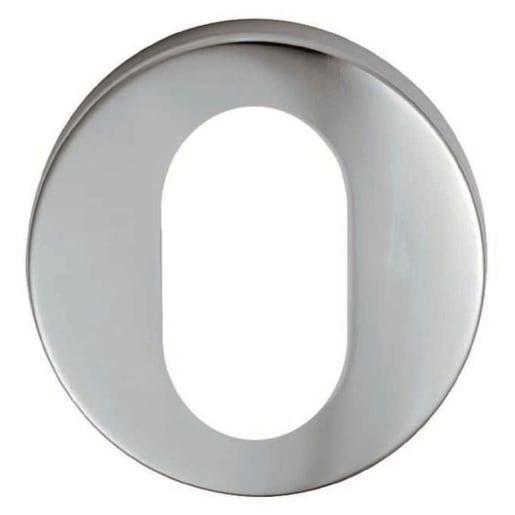 Eurospec Oval Profile Escutcheon 8 x 52mm Satin Anodised Aluminium