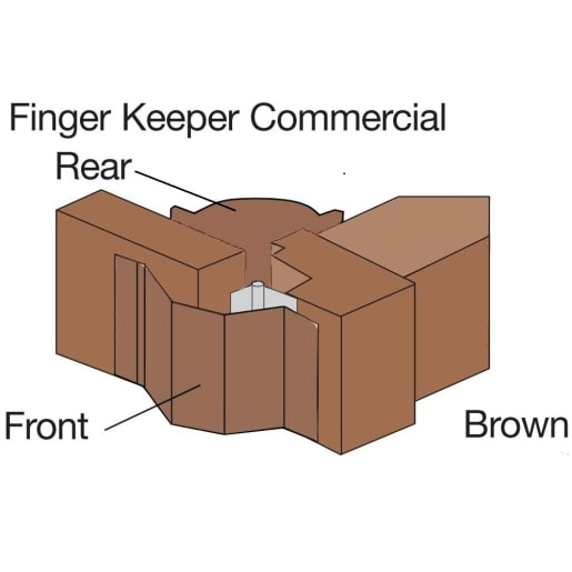 Astroflame Commercial FingerKeeper and Rear Guard Set 1960mm L Brown