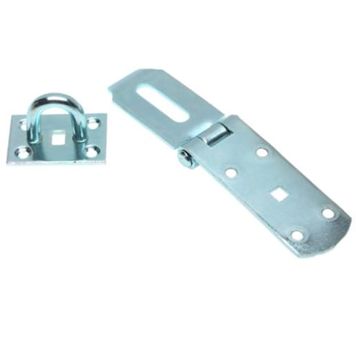 A Perry No.HS149M Medium Hasps and Staple 200mm Zinc Plated