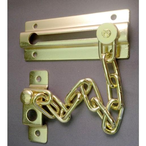 Hiatt Budget Door Chain 90mm Brass