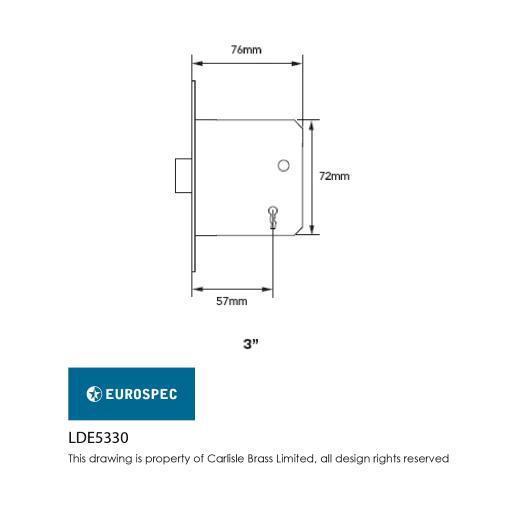 Eurospec Easi-T Residential 3-Lever Deadlock 76mm W Nickel Plated