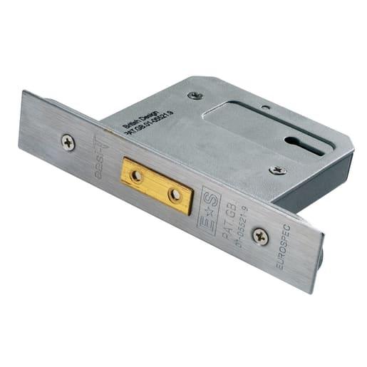 Eurospec Easi-T3 Lever Deadlock 64mm L Satin Stainless Steel