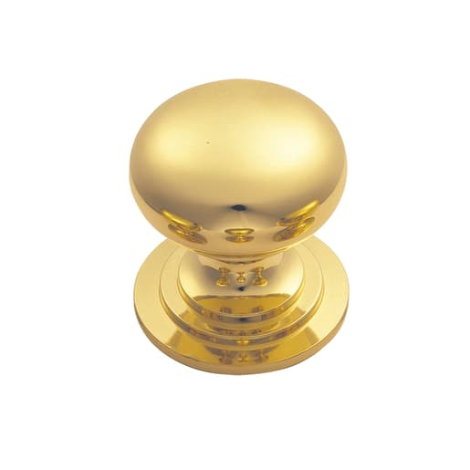 Carlisle Brass Fingertip Victorian Cupboard Knob Polished Brass