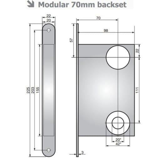 Assa Abloy 1520R Escape Sashlock 225mm L Satin Chrome