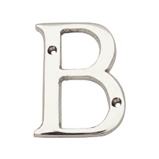 Carlisle Brass Letter Face Fix Letter 'B' 53mm H Polished Chrome