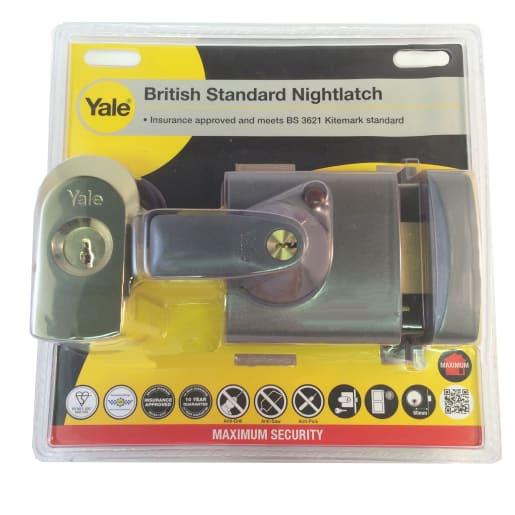 Yale High Security BS3621 Nightlatch Dark Grey