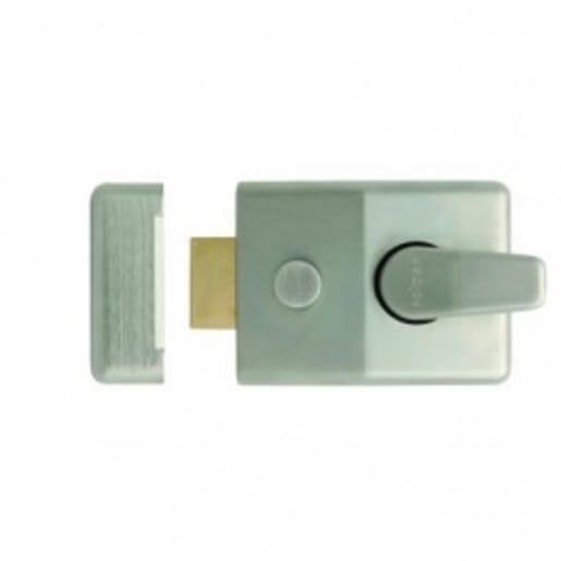 Frisco Standard Nightlatch with Cylinder 3 Key Keycard Satin Chrome